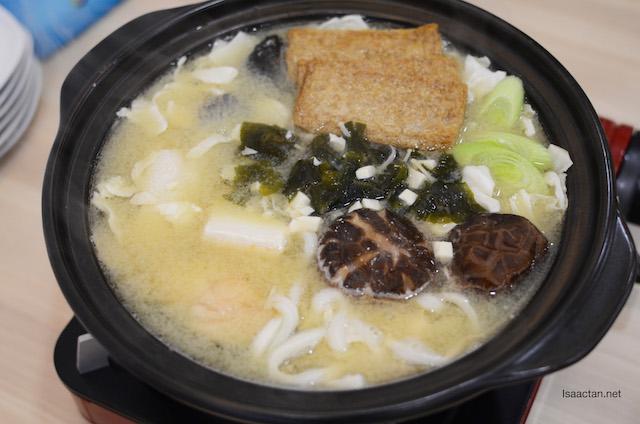 Salmon Chankonabe – RM33.90 (miso soup) - the salmon head is hidden inside