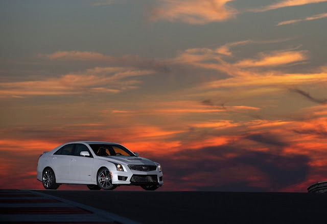 2016 Cadillac ATS-V sedan white