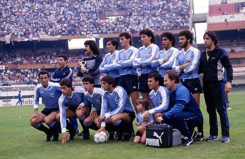 Formación de Uruguay ante Chile, Copa América 1987, 12 de julio