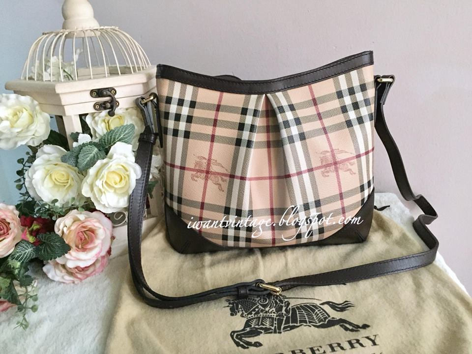 Burberry Haymarket Check Crossbody Bag-Dark Brown dbd4d6aaf39f8