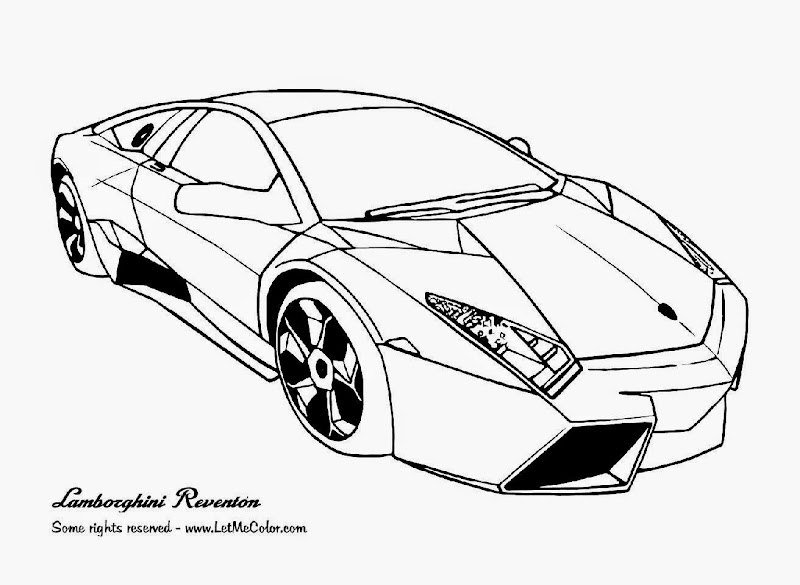 simple coloring pages cars lamborghini - photo#14