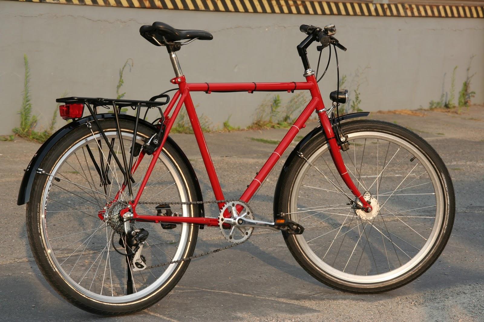 Pauls Werkstatt: Fahrrad mit Stahlrahmen für die Stadt