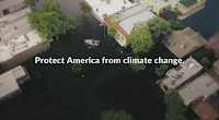 Two new ads from the Partnership for Responsible Growth aim to reach President Trump and members of Congress with reminders about climate change. One shows a man fishing with his son in what turns out to be a flooded street. (Credit: Partnership for Responsible Growth) Click to Enlarge.