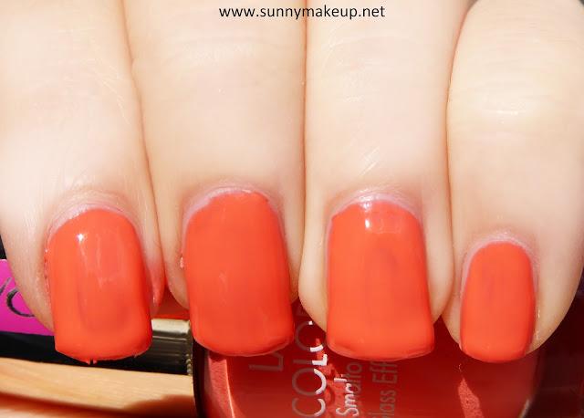 Swatch Pupa - Dot Shock. Collezione primavera 2016. Smalto Effetto Vetro Lasting Color Gelnella colorazione 150 A Sweet Apricot.