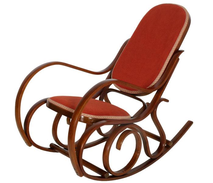 Sedia a dondolo Thonet customizzata
