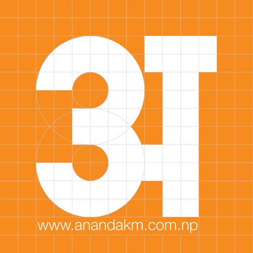 Non-stop creative fonts  Ananda K  Maharjan, Devanagari typographer