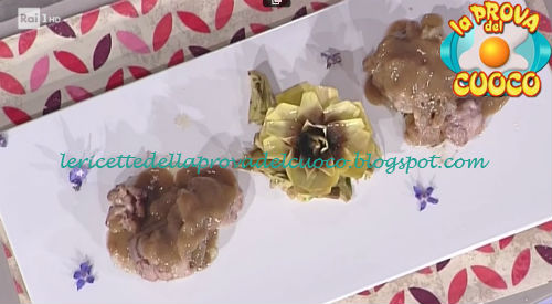 Ricetta del Filetto di mora romagnola lardellato con carciofo moretto e albana da La Prova del Cuoco
