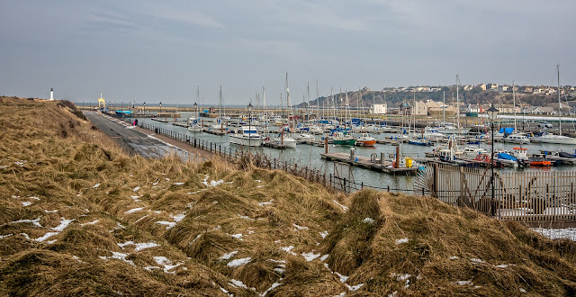 Photo of Maryport Marina at high tide on Friday