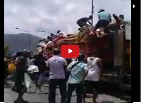 Saquean camión con azúcar en polvo en Puerto Cabello