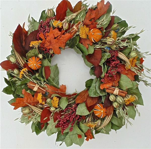 Fall Cinnamon and Berry Wreath