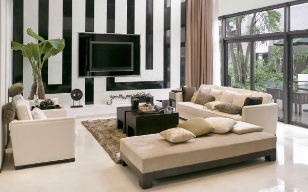 Contoh desain ruang tamu minimalis moderen
