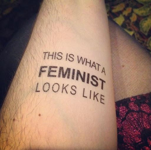 'Isso é o que uma feminista parece'