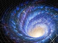 die Galaxie mit Schwarzem Loch in Trichterform