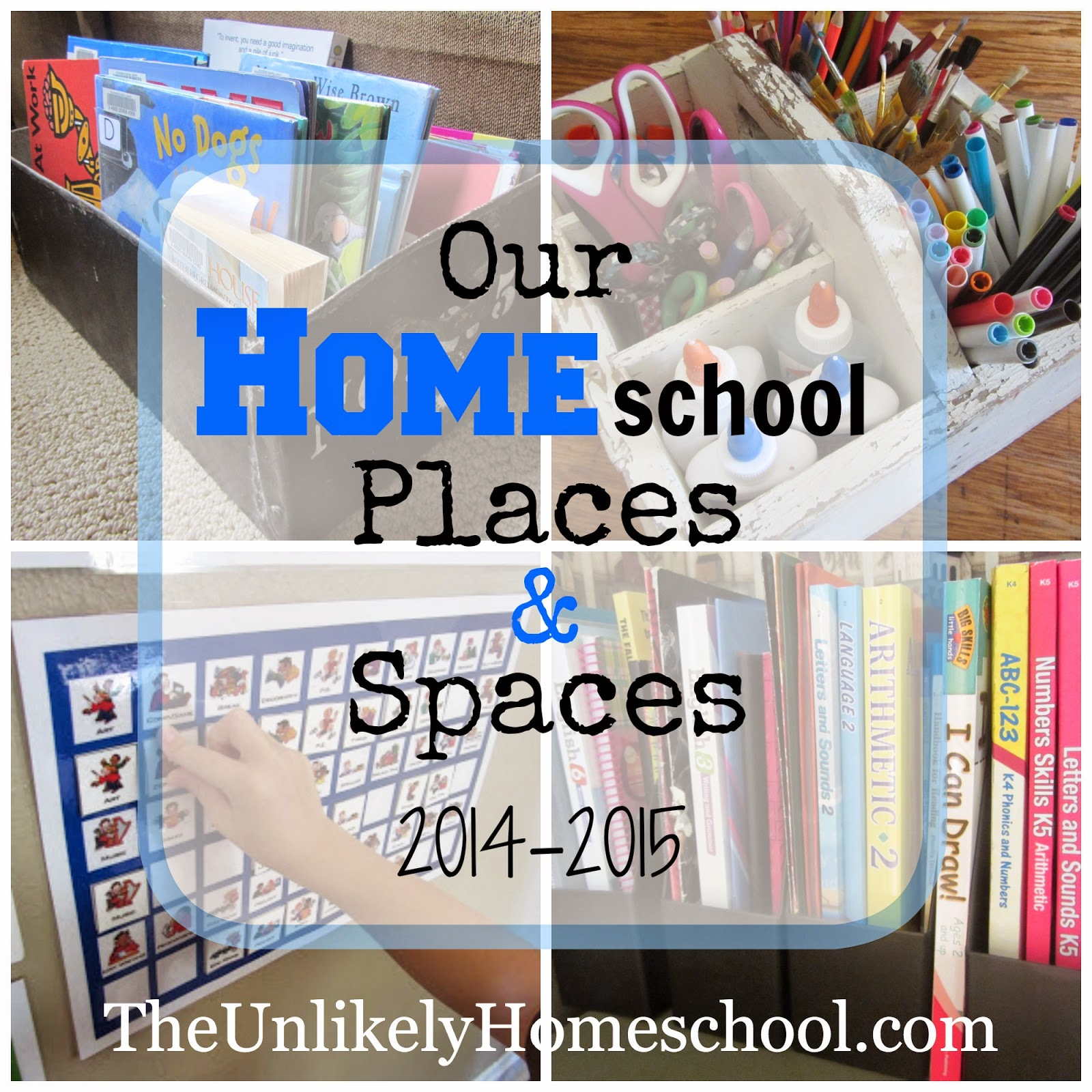 Our Homeschool Places and Spaces 2014-2015 {The Unlikely Homeschool}