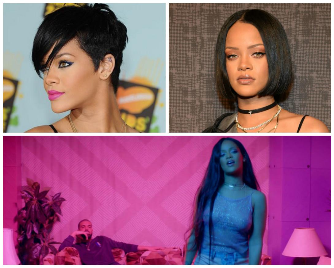 Cabelo da Rihanna, Rihanna muda de cabelo, cabelos diferentes da Rihanna, Rihanna work, Rihanna cabelos