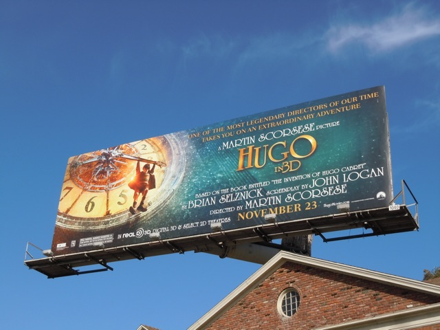 Hugo film billboard