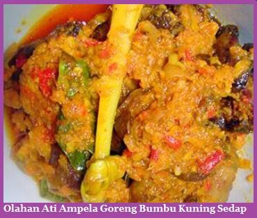 Olahan Ati Ampela Goreng Bumbu Kuning Sedap Resep Kuliner