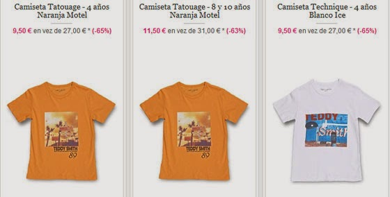 Camisetas de niño de Teddy Smith