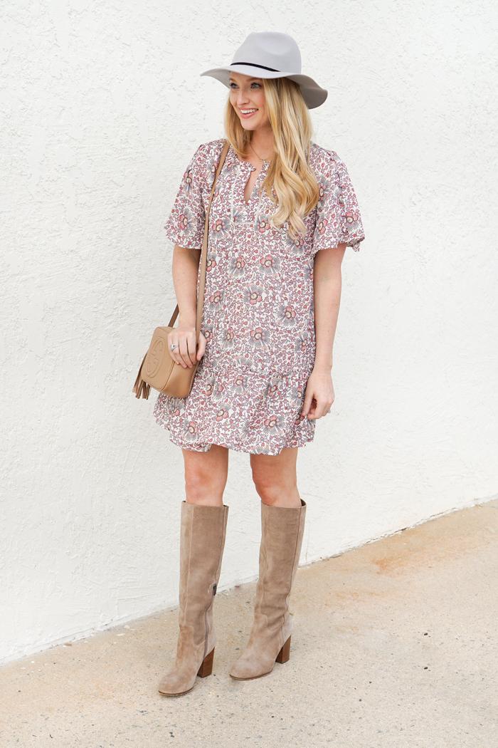 fall blogger style, loft dress, loft sale favorites, affordable fall dresses