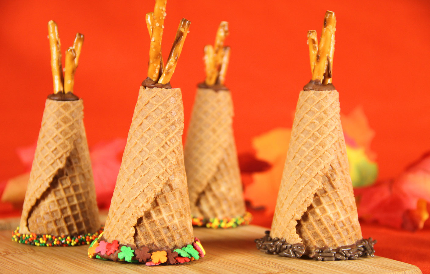 Honey Amp Butter Thanksgiving Teepee Cake Cones So Cute