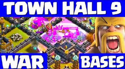 Base Baru Anti 3 Bintang Untuk Town Hall 9 COC