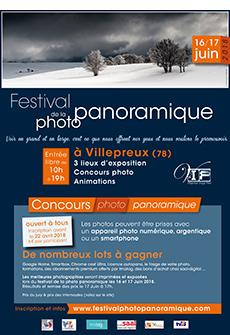 Affiche du Festival de la photo panoramique de Villepreux 2018