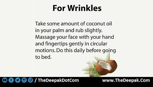 1 COCONUT OIL used for Wrinkles