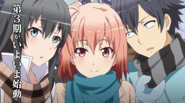 Tercera temporada del anime Oregairu: Primer tráiler
