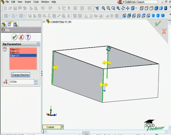 How To Rip Feature In Solidworks Solidworks Share