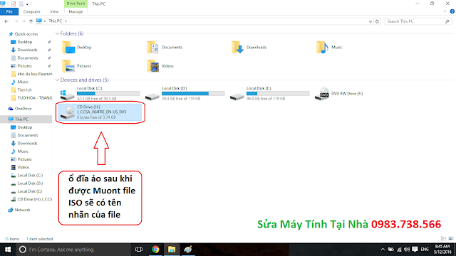 Dùng file ISO trong ổ ảo - H04