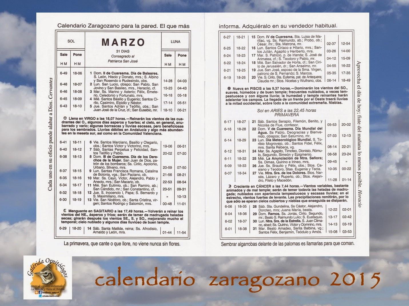 DESCARGAR CALENDARIO ZARAGOZANO 2012 PDF