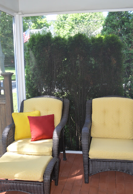 Outdoor Bricked and Covered Patio Furniture
