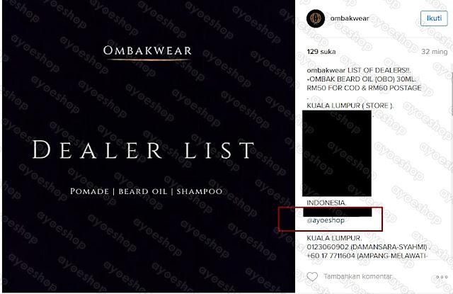 Ayoesho adalah agen Resmi Ombak Beard Oil Indonesia