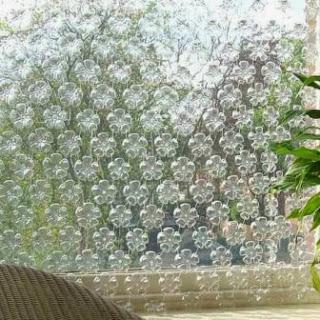 tirai dari limbah botol plastik