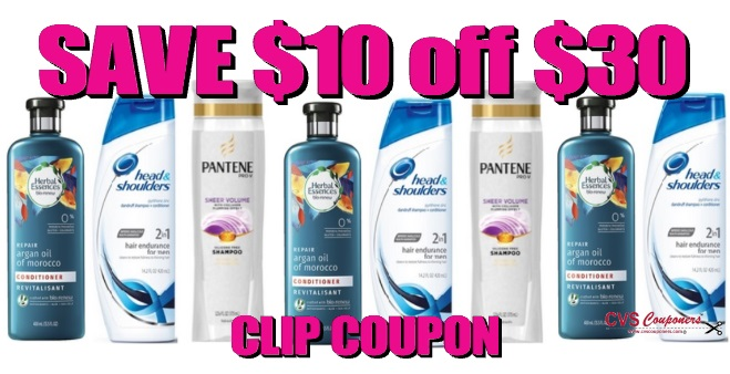 P&G Hair Care Coupon Offer | Save $10 Off $30