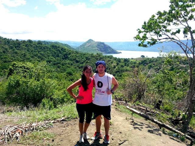 At the top of Taal Volcano