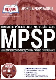 Apostila Preparatória Concurso MPSP (2017) Analista Técnico Científico