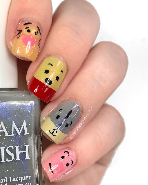 Winnie The Pooh Nails: Glam Polish Hundred Acre Wood Collection