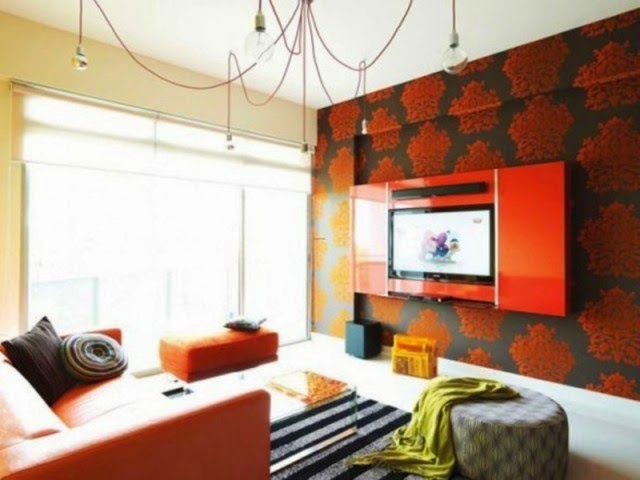 wall painting patterns for living room