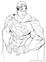 Mewarnai Gambar Superman  Mewarnai Gambar