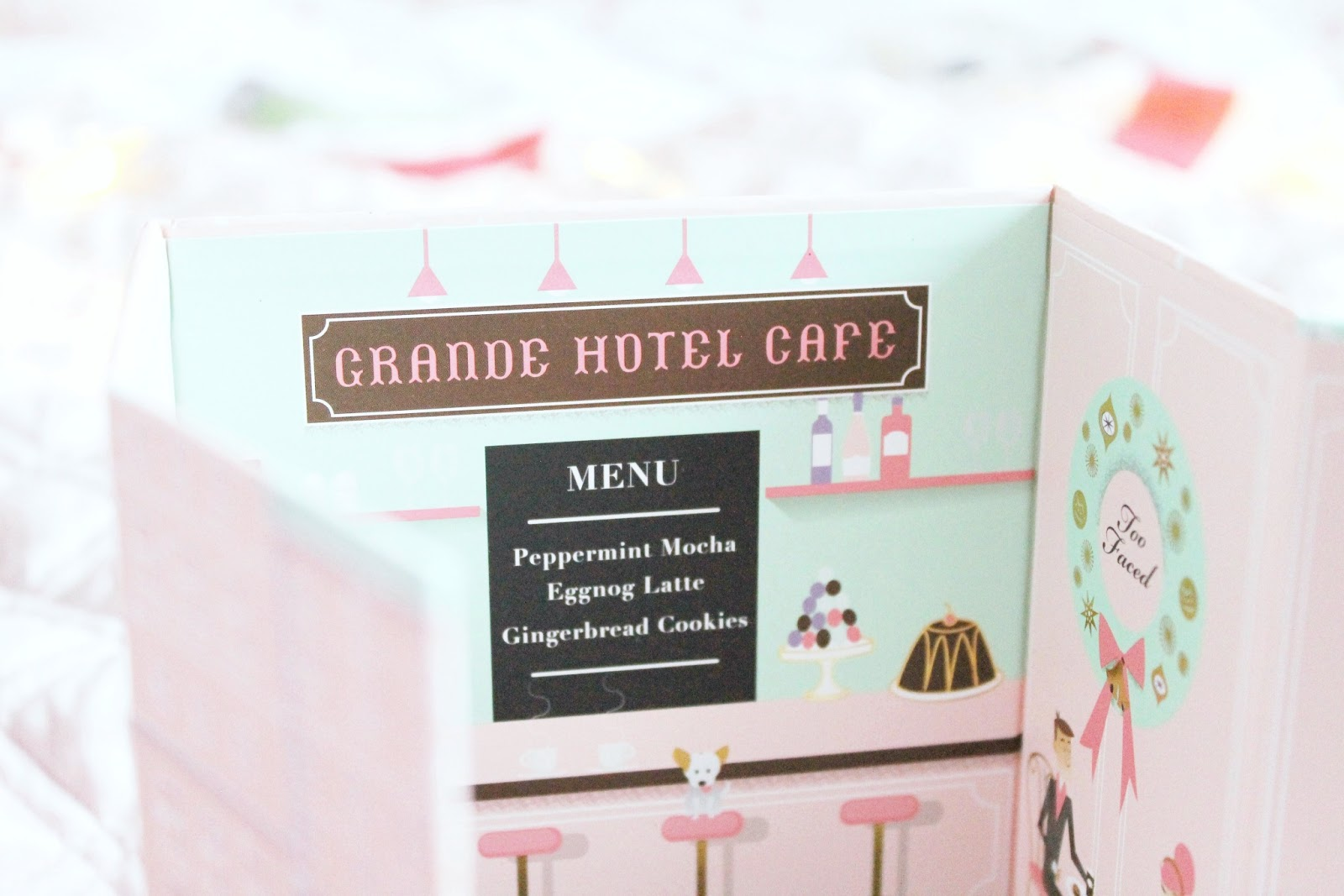 Too Faced Grande Hotel Cafe swatches and palettes review