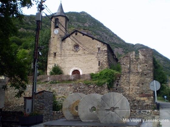 Iglesia de san Bartomeu,Tavascan, Valle del Cardón, Pirineo Catalán
