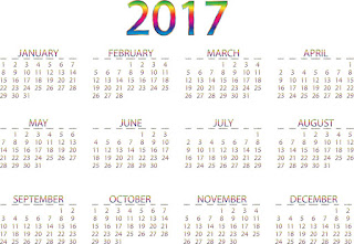 2017カレンダー無料テンプレート34