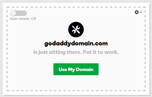 Godaddy Domain Management Page