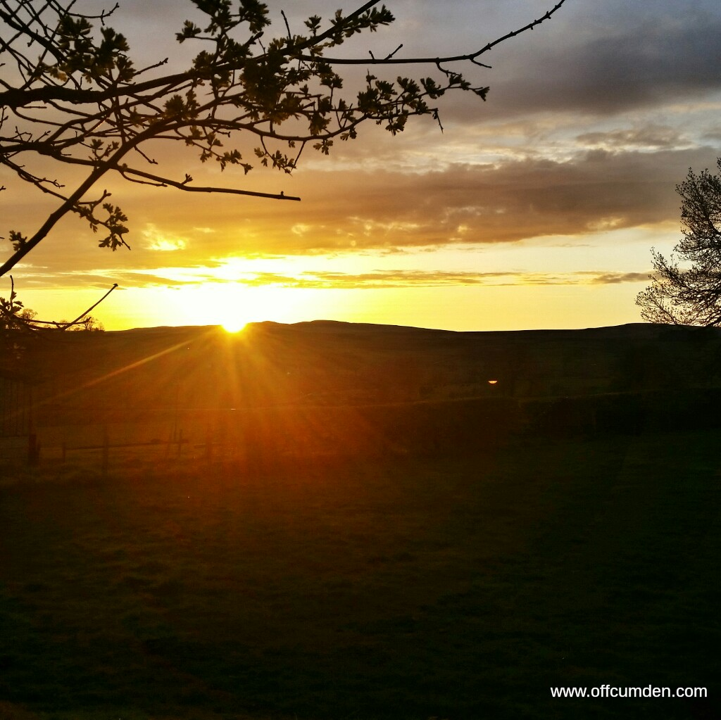 Yorkshire dales sunset