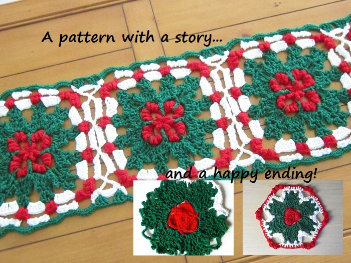 Ravelry. for sale, crochet pattern, table runner