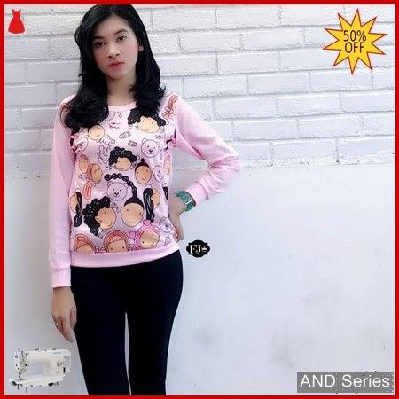 AND326 Baju Atasan Wanita Kaos Sweet Face BMGShop