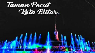 Taman Pecut Kota Blitar, Air Mancur Warna Warni Wisata Hits Terbaru