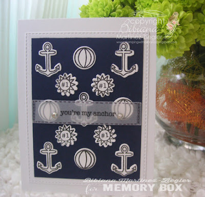 marine background with stamps last