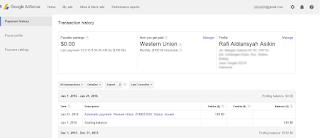 Akhirnya Gajian Payout Google Adsense Aku Berikan Orang Tua